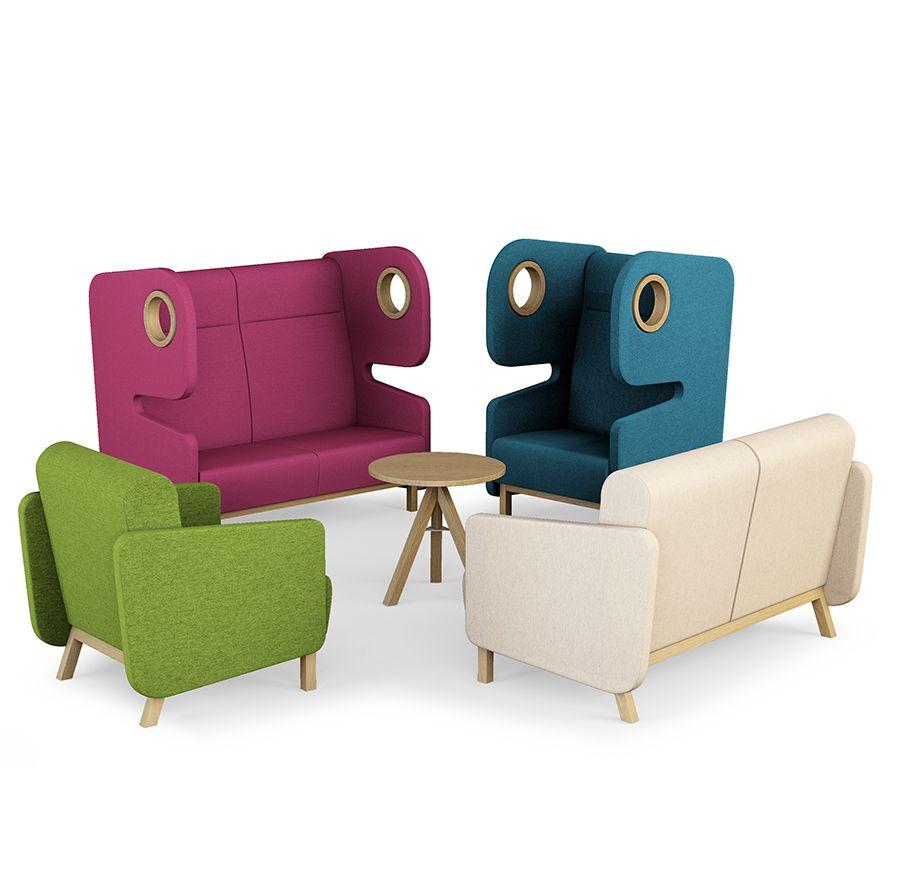 fauteuils canapés laine colorés pour professionnels PAKMAN