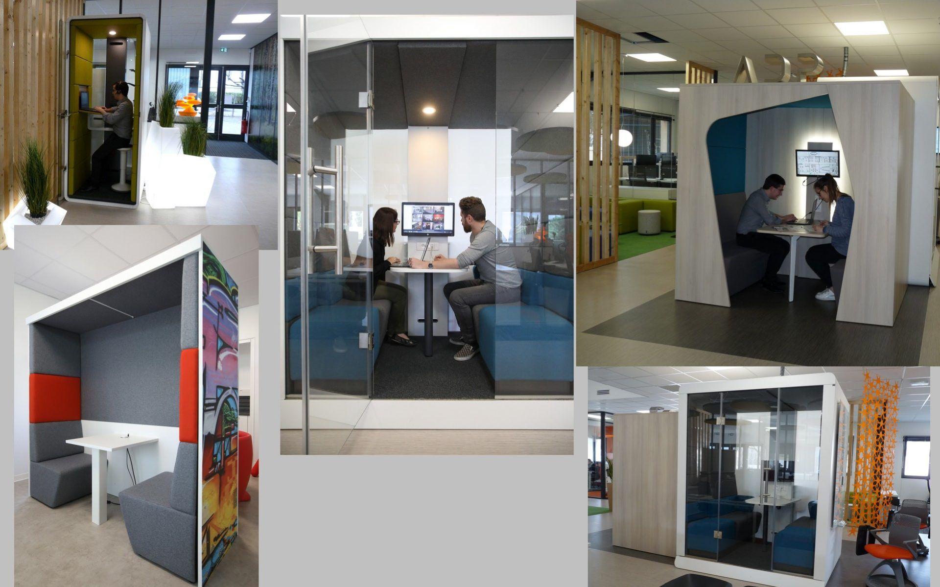 Avez-vous pensé aux cabines de travail pour optimiser vos espaces ?