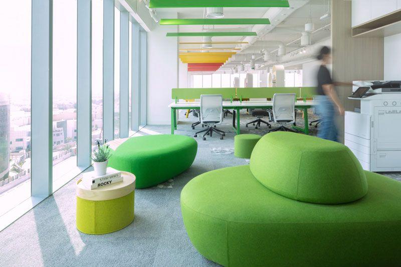 amenagement-bureaux-open-space-colores Exemples de bureaux open space