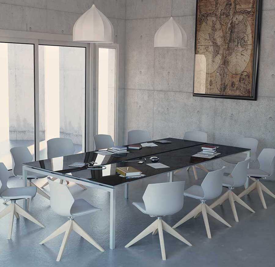 Table de réunion CINETIK pieds arche