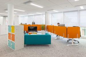 Aménagement bureaux open space COLAS